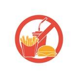 Label de danger d'aliments de préparation rapide illustration libre de droits
