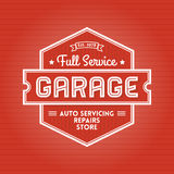 Label de garage Photographie stock