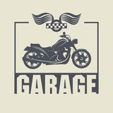 Label de garage de vintage Images stock