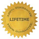 Label de garantie de vie illustration libre de droits
