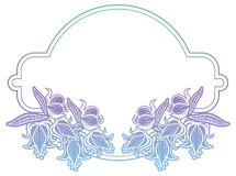 Label de gradient avec les fleurs décoratives Copiez l'espace Photo stock