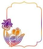 Label de gradient avec les fleurs décoratives Copiez l'espace Image libre de droits