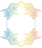 Label de gradient avec les fleurs décoratives Copiez l'espace Images libres de droits