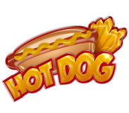 Label de hot-dog Photos stock