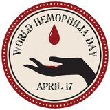 Label de jour d'hémophilie du monde Photographie stock libre de droits