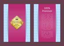 Label de la meilleure qualité de qualité de certificat de 100 garanties Photos libres de droits
