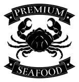 Label de la meilleure qualité de fruits de mer Photographie stock libre de droits