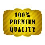 label de la meilleure qualité de qualité de 100 pour cent Image stock
