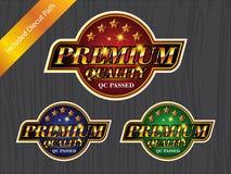 Label DE LA MEILLEURE QUALITÉ de logo d'autocollant d'insigne de QUALITÉ Images libres de droits