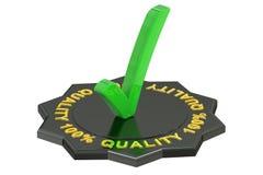 Label de la qualité 100% Photo libre de droits
