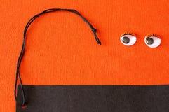 Label de Mlle, fond orange Photo libre de droits