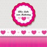 Label de Muttertag Photos stock