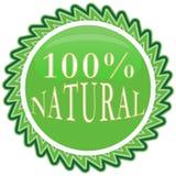 label 100% de nature Photographie stock libre de droits