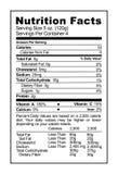 Label de nutrition Photos libres de droits