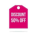 Label de prix discount de vente d'offre spéciale Image stock
