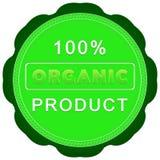 label de produit biologique de 100 pour cent Photo libre de droits