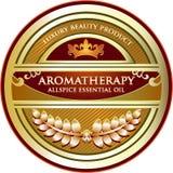 Label de produit d'huile essentielle d'Aromatherapy de poivre de Jamaïque illustration de vecteur