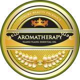 Label de produit d'huile essentielle d'Aromatherapy de Ylang Ylang illustration libre de droits