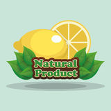 label de produit naturel de citron Photo stock