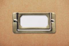 Label de récipient d'entreposage de carton Image stock