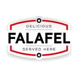Label de signe de cru de Falafel illustration de vecteur