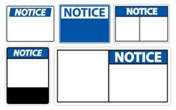 label de signe d'avis de symbole d'ensemble de symbole sur le fond blanc illustration libre de droits