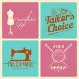 Label de style de vintage pour l'emblème de tailleur Images libres de droits