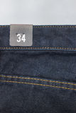Label de taille sur des jeans Images stock