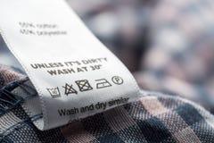 Label de tissu image stock