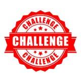 Label de vecteur de défi illustration stock