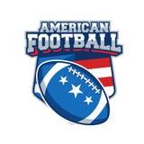 Label de vecteur de football américain Images stock