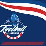 Label de vecteur de football américain Photos stock
