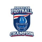 Label de vecteur de football américain Photo libre de droits