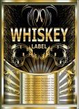Label de vecteur pour le whiskey Photos stock