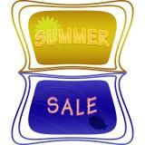 Label de vente d'été Images stock
