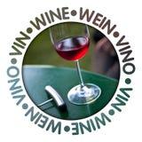 Label de vin Photos stock