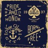 Label de vintage Photo libre de droits