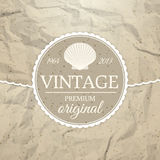 Label de vintage Photographie stock libre de droits