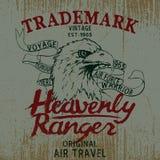Label de vintage avec l'aigle Photos libres de droits