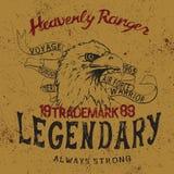 Label de vintage avec l'aigle Image libre de droits