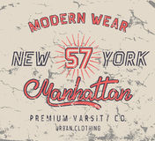 Label de vintage avec la conception de New York City Photo stock