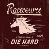 Label de vintage avec le cheval Images libres de droits