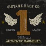 Label de vintage avec le numéro un Photo stock