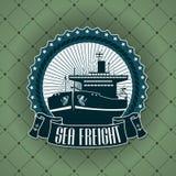 Label de vintage avec un thème nautique Photos stock