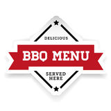 Label de vintage de Bbg de menu de barbecue illustration libre de droits