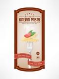 Label de vintage de nourriture Images stock