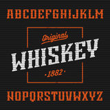 Label de whiskey, police occidentale de style illustration stock