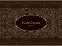 Label design Royalty Free Stock Photography