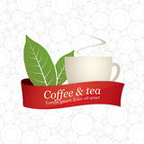 Label design. For restaurant, cafe, bar, coffeehouse Royalty Free Stock Photos