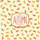 Label design for autumn season 2014 Stock Photo